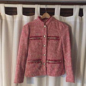 Zara pink tweed blazer